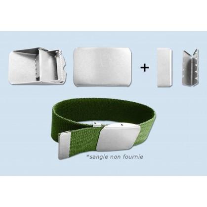 boucle ceinture métal à griffe 32mm