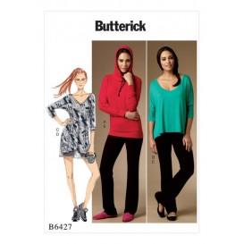 patron haut, robe, short Butterick B6427