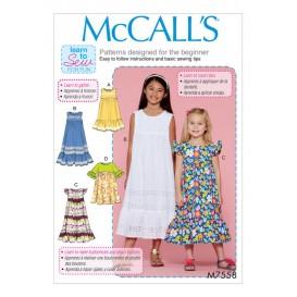 patron enfant robes McCall's M7558