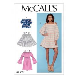 patron haut, tunique et robes McCall's M7563