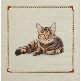 panneau de coussin artica chat assis 47cm x 47cm