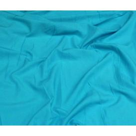 tissu coton uni turquoise foncé largeur 150cm x 50cm