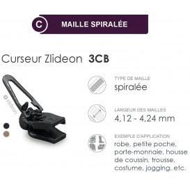 curseur ZlideOn 3CB pour fermeture spirale
