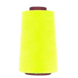 cône de fil à surfiler et à coudre jaune fluo 5000yards
