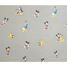 tissu coton disney mickey et ses amis largeur 140cm x 50cm