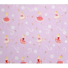 tissu coton danseuse ballerine largeur 140cm x 50cm