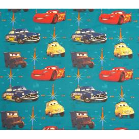 tissu coton disney cars bleu largeur 140cm x 50cm
