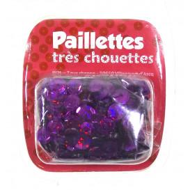 paillettes 6mm violet hologramme 15g