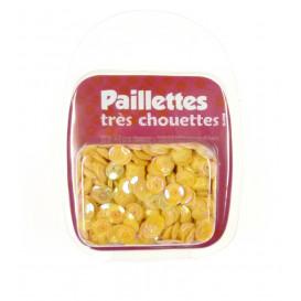 PAILLETTES 15 GRS JAUNE NACRE