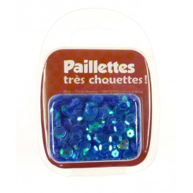 PAILLETTES 15 GRS BLEU TRANSPARENT