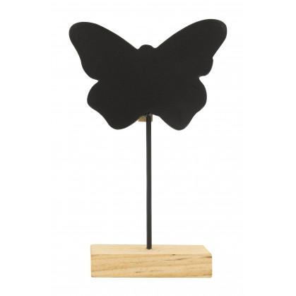 marque place papillon ardoise 6,5cm