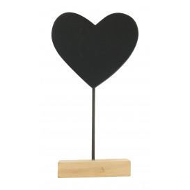 marque place coeur ardoise 6,5cm
