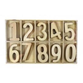 coffret de 50 chiffres en bois brut 2,7cm
