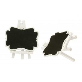 2 mini chevalets ardoise liseré blanc 7x8cm