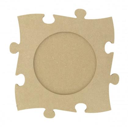 cadre photo puzzle en bois médium 21cm