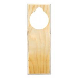 blason pour poignée de porte en bois 23cm
