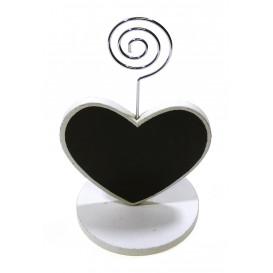 marque place coeur ardoise 2 faces 7,6cm