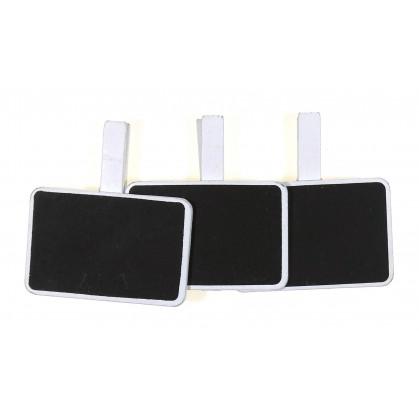 3 pinces à linge ardoise rectangle 6,7cm