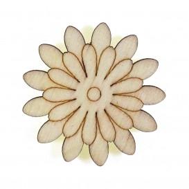 pince à linge fleur 4,5cm en bois