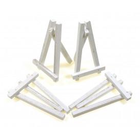 4 petits chevalets blanc en bois 8x4,5cm