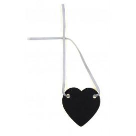 coeur ardoise 4cm avec cordelette suédine