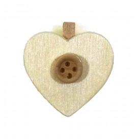 pince à linge coeur et bouton bois 3cm