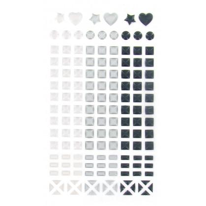 147 stickers mosaïques cristal noir