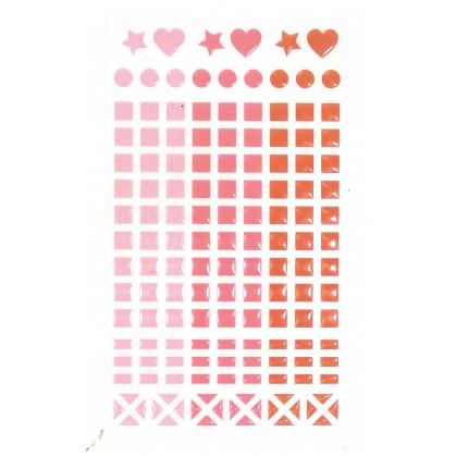147 stickers mosaïques cristal rouge