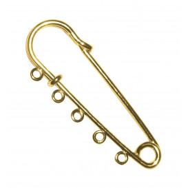 épingle à kilt métal or 7cm