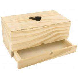 boîte à mouchoirs tiroir en bois 24x13x12cm
