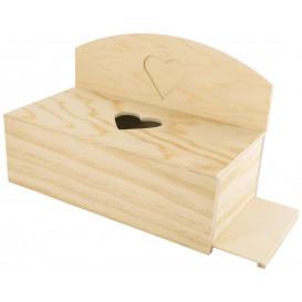 boîte à mouchoirs photo coeur en bois 24x13x16cm