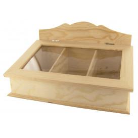 boîte à thé ou cigares en bois 30x20x17cm