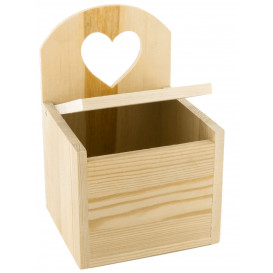 boîte à sel en bois 12x11x17,5cm