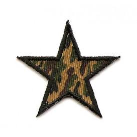 écusson étoile camouflage kaki 4cm thermocollant