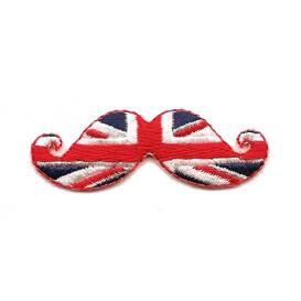 écusson moustache anglais thermocollant