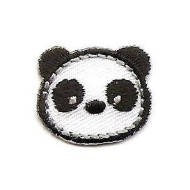 écusson petite tête de panda thermocollant