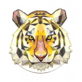 écusson tête de tigre origami thermocollant