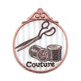 écusson couture vintage ciseaux thermocollant
