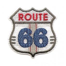 écusson route 66 blanc thermocollant