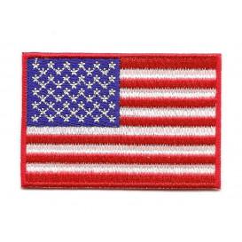 écusson drapeau americain 6,4x4,3cm thermocollant
