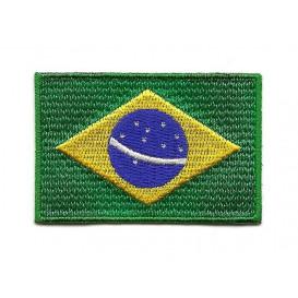 écusson drapeau bresil 6,4x4,3cm thermocollant