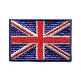 écusson drapeau anglais 6,4x4,3cm thermocollant
