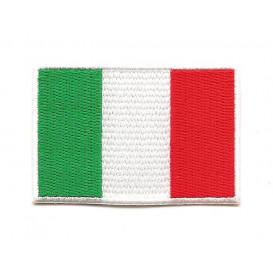 écusson drapeau italie 6,4x4,3cm thermocollant