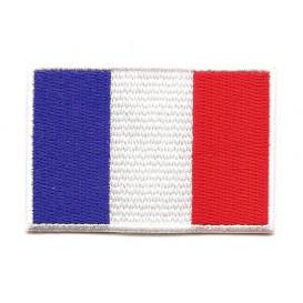 écusson drapeau france 6,4x4,3cm thermocollant