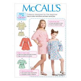 patron enfant haut, short, robe McCall's M7590