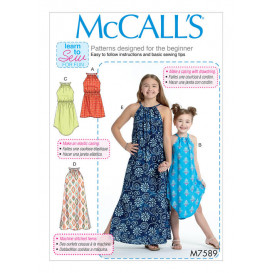 patron enfant robes amples McCall's M7589