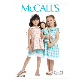 patron enfant haut, robe, short McCall's M7588