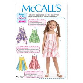 patron enfant robes McCall's M7587