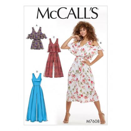 patron barboteuse et combinaisons McCall's M7608