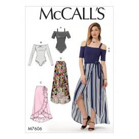 patron corsage-culotte et jupes McCall's M7606